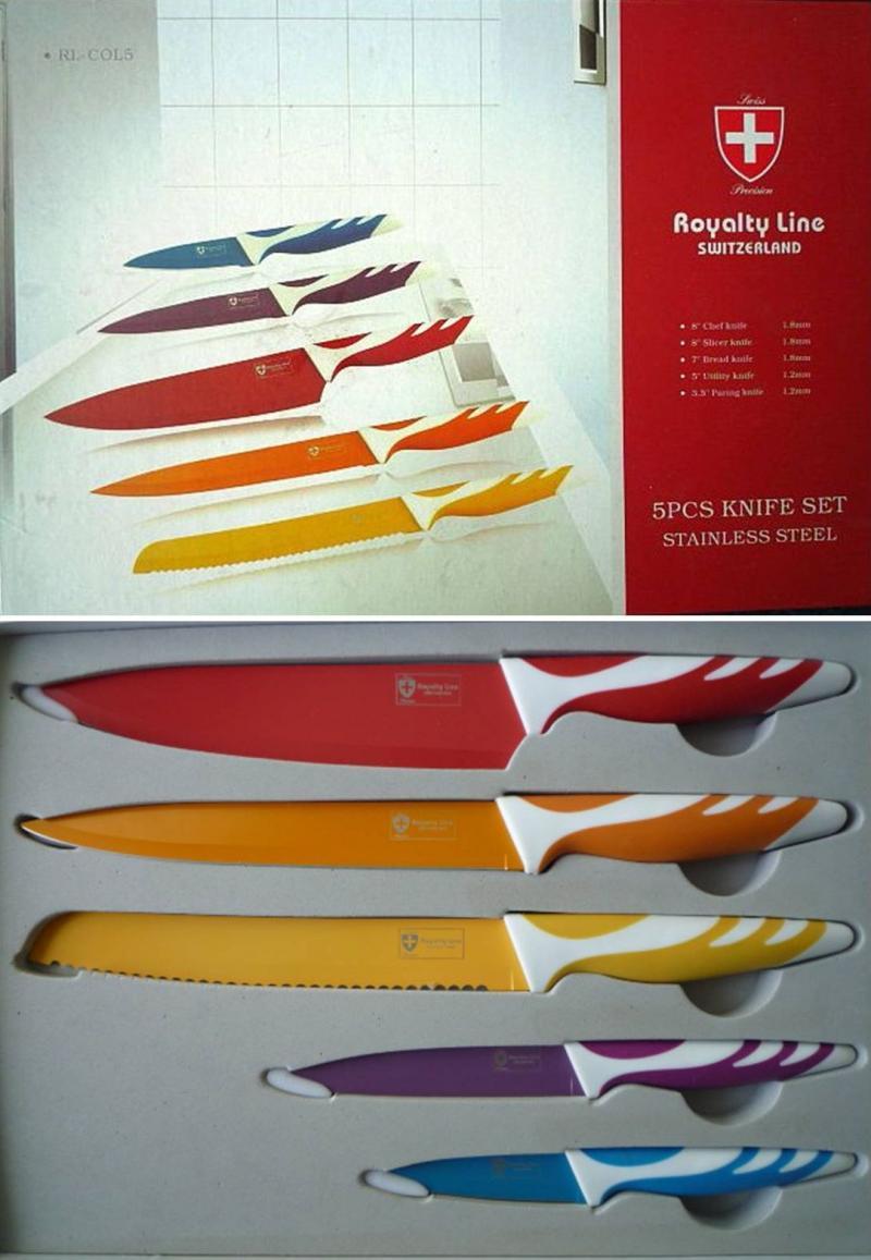 high quality 5 piece knife set royalty line spot market cottbus. Black Bedroom Furniture Sets. Home Design Ideas