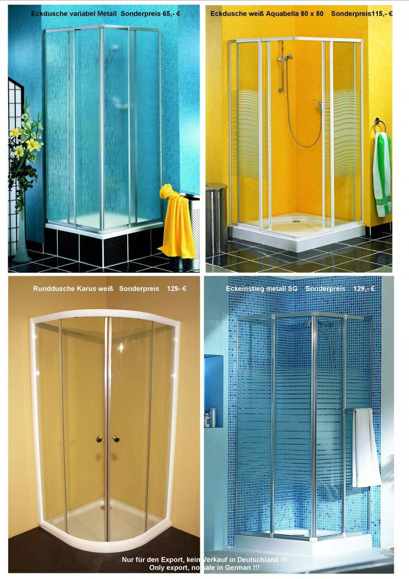sonderposten duschen rundduschen eckeinstiege duschkabinen lagerverkauf cottbus. Black Bedroom Furniture Sets. Home Design Ideas