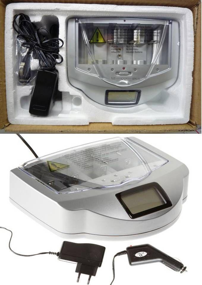 batterieladeger t f r alle g ngigen batterien akkus d c aa aaa 9v mit led anzeige. Black Bedroom Furniture Sets. Home Design Ideas