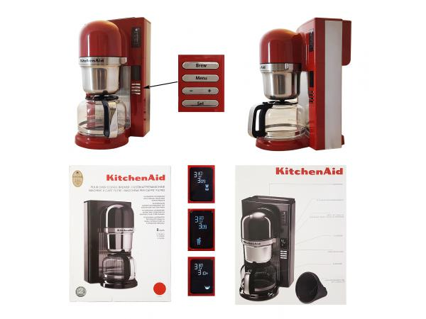 kitchenaid kaffeemaschine 5kcm0802eer mit vorbr hfunktion und glaskanne rot 32 ebay. Black Bedroom Furniture Sets. Home Design Ideas